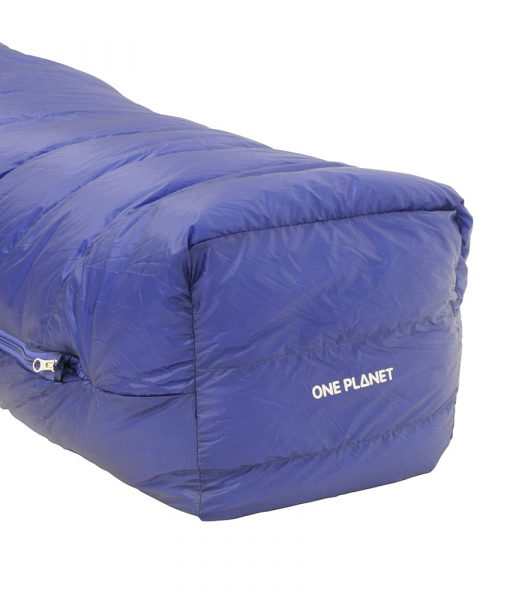 ONE PLANET cocoon sleeping bag detail foot