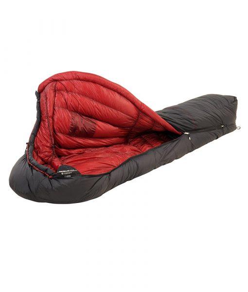 ONE PLANET winterlite sleeping bag open