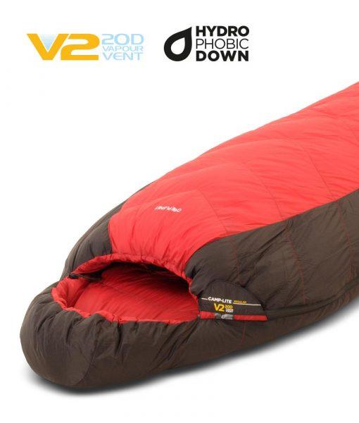 ONE PLANET camplite sleeping bag hero detail