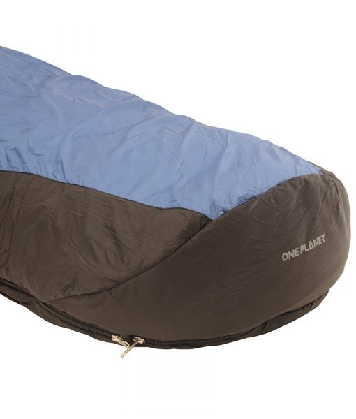 SAC synthetic sleeping bag ONE PLANET detail foot