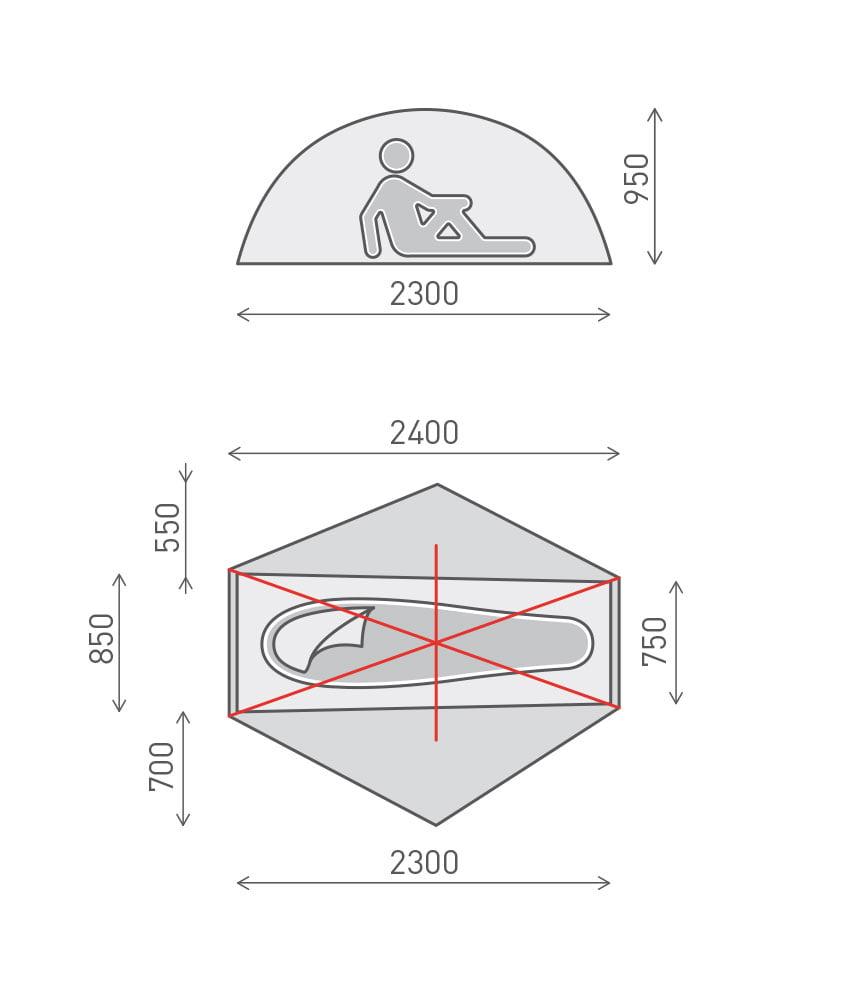 Goondie-1-tent-dimensions  sc 1 st  One Planet & Goondie 1 - Goondie Series | One Planet