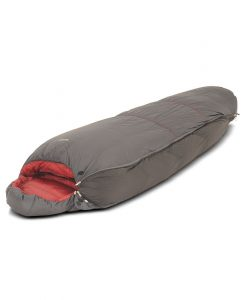 Sleeping bag expasion gusset zipped in