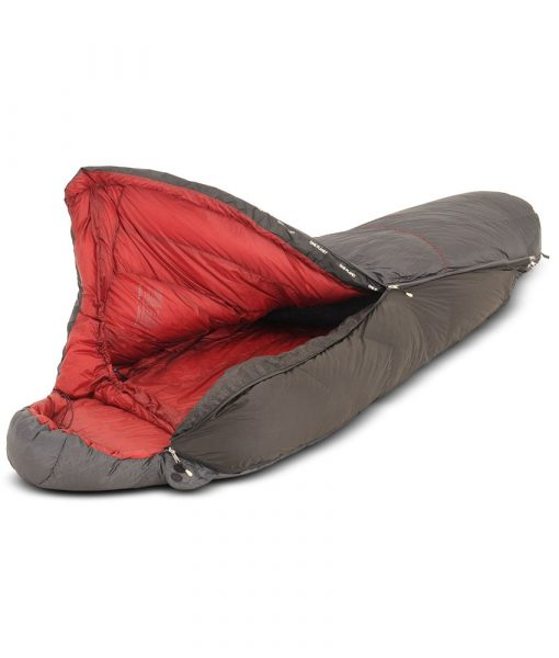 Sleeping bag expasion gusset opened