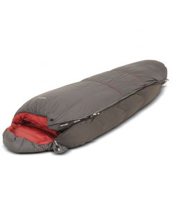 Sleeping bag expasion gusset partially unzipped