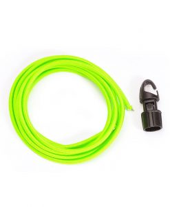ONE PLANET lime green shock cord with black hook toggle
