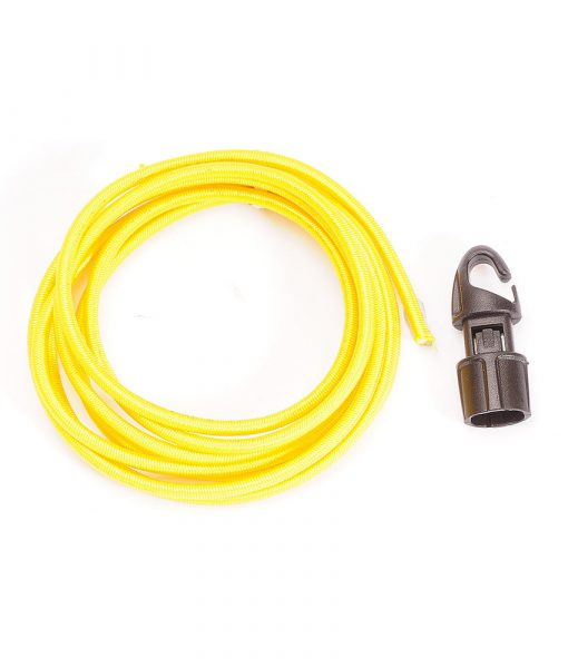 ONE PLANET yellow shock cord with black hook toggle