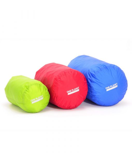 ONE PLANET stuff sack set multicolour 4L Green 8L Red 12L Blue