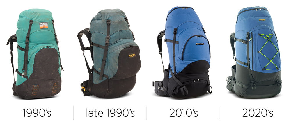 Packs over the years