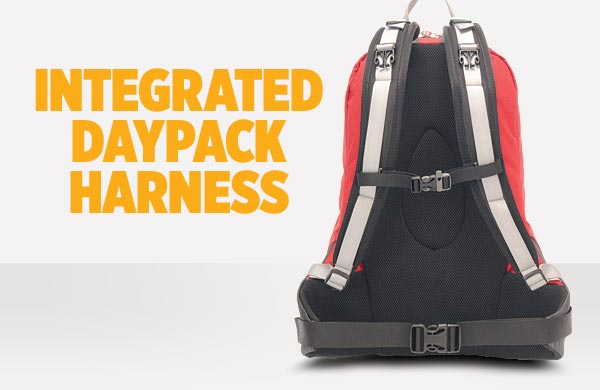 integrated day pack harness