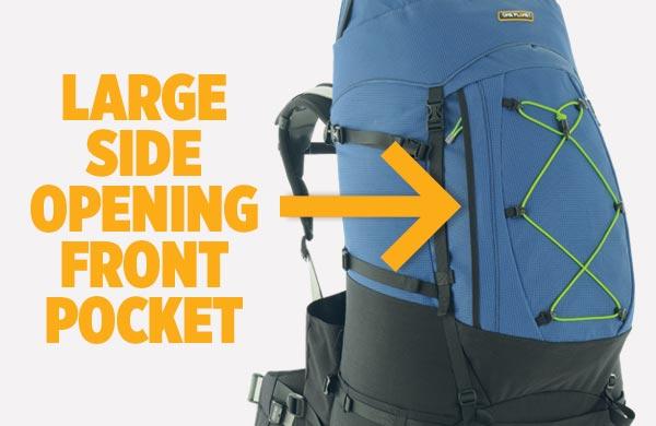 Side opending pocket