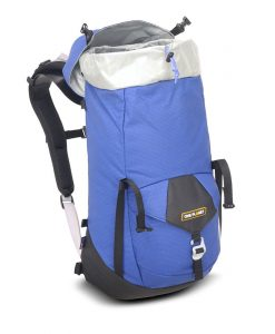 ONE PLANET zipless daypack in pacific blue open